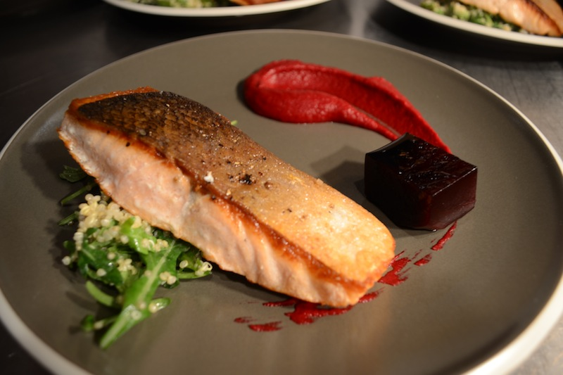 Pan Fried Salmon with a Quinoa Salad