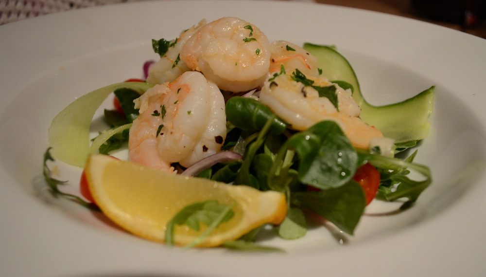 Buttery Chilli Prawn Salad