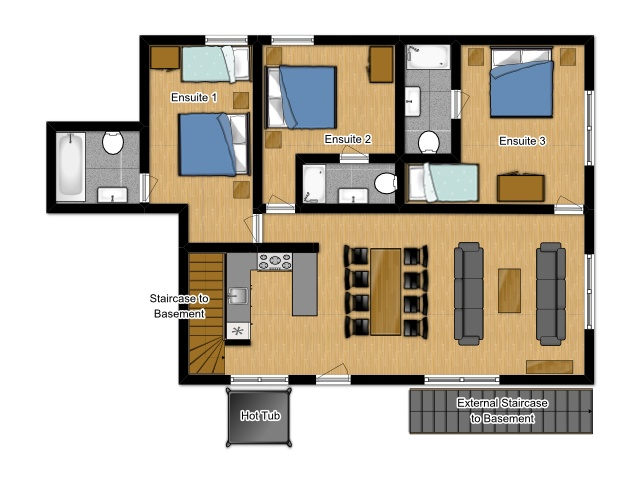 Catered-Ski-Chalet-Morzine-Floorplan