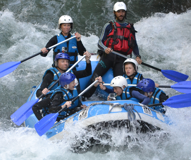 Alps white water rafting