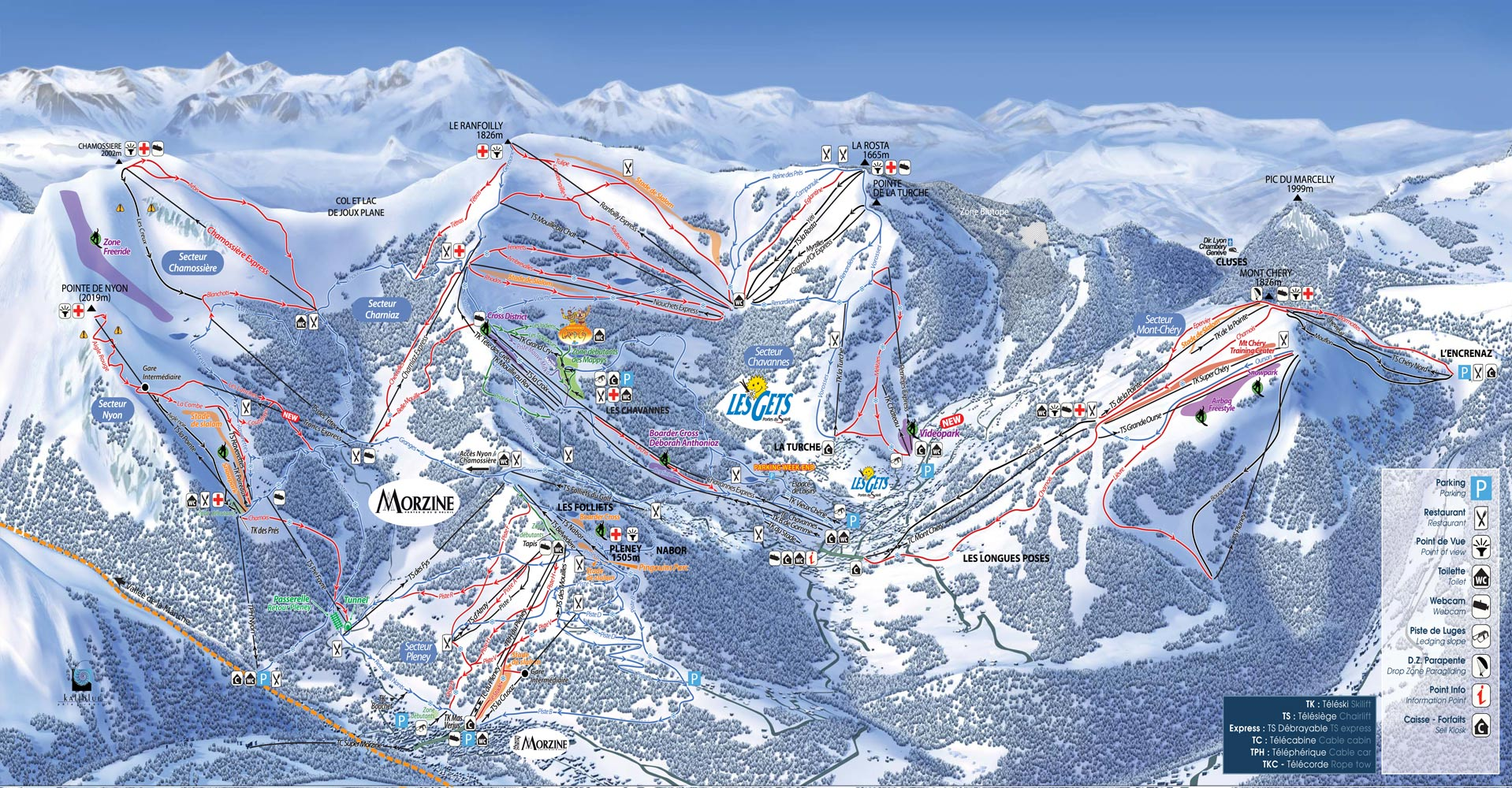 Les Gets Piste Map Morzine