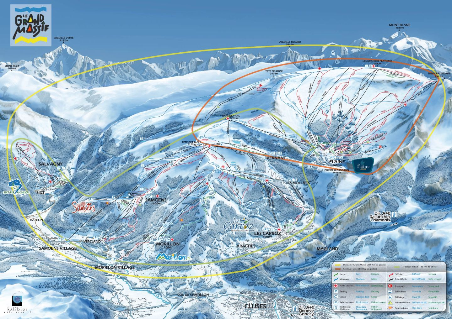 Grand Massif Piste Map Piste