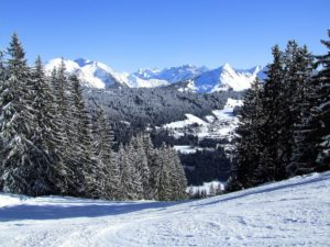 Morzine ski slopes winter